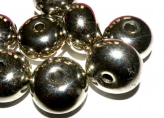 Large Abacus Donut Bead 24x17mm - Bright Silver