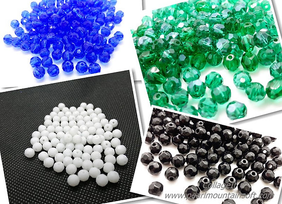 Glass Faceted Round Bead 6mm - Choice of Colours