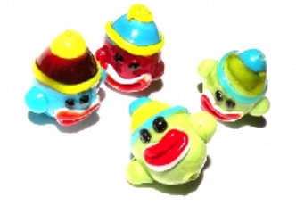 Sock Monkey Lampwork Bead 15mm - Choice of Colours