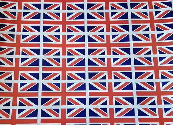Fun Novelty Craft Stickers - Union Jack - Pack of 50