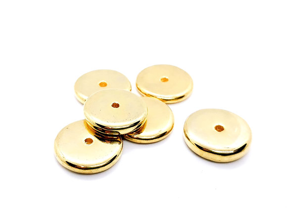Heavy Gold Spacer Bead Pack of 6