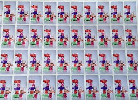 Fun Novelty Craft Stickers - Nail Polish - Pack of 50