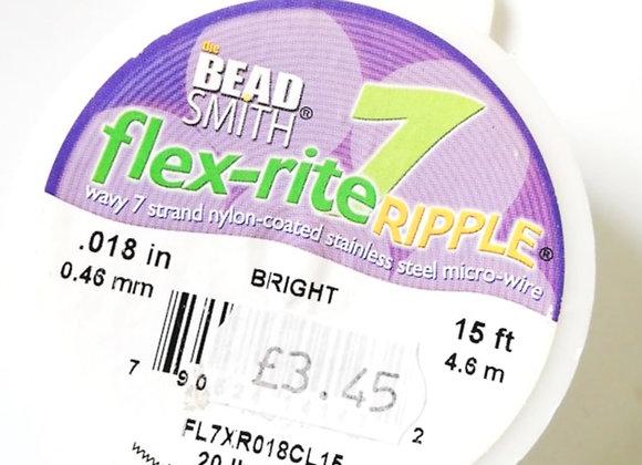 """Beadsmith flex-rite Ripple Micro Wire Bright .018"""""""
