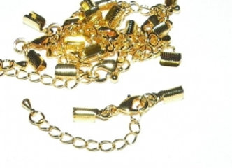 Bright Gold End Fitting Fully Finished With Chain And Clasp