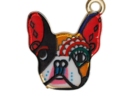Colourful Dog Enamelled Charm/Pendant