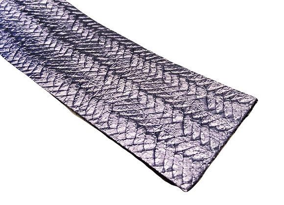 Leather Strip - Textured Metallic Lilac 1.4mm
