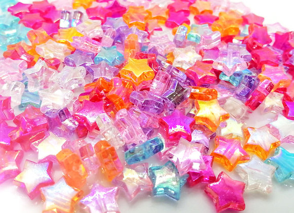 Electroplate Star Bead Mix Pack of 50