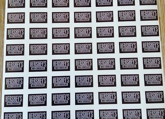 Fun Novelty Craft Stickers - Hersheys Chocolate - Pack of 50