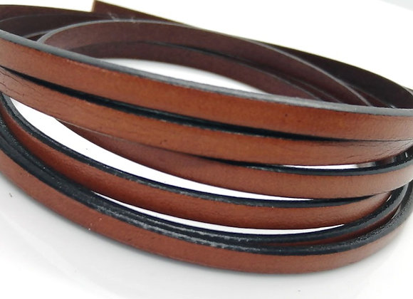 Flat Leather 5mm - Saddle Brown
