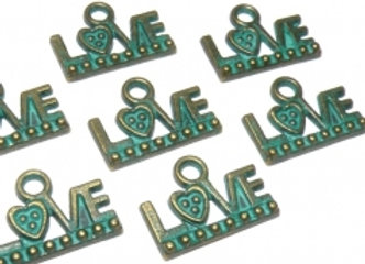 Patina Love Charm Pack of 4