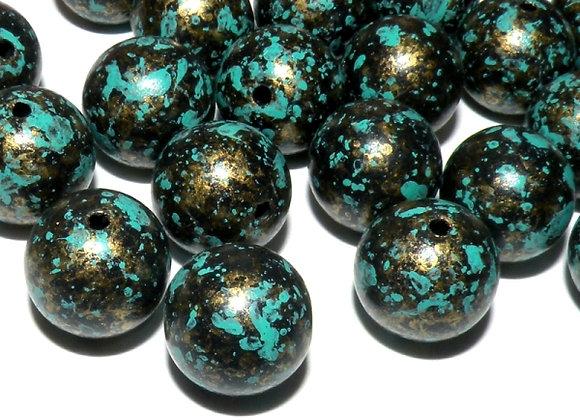 Antique Round Style Bead Acrylic