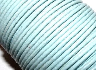Light Blue 2mm Round Leather