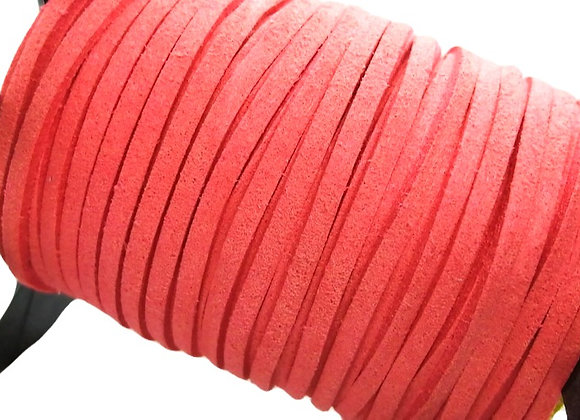 Coral Faux Suede Cord