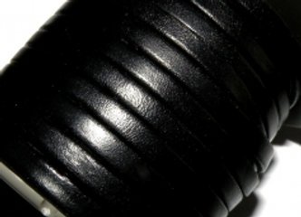 Black Flat Leather 5mm