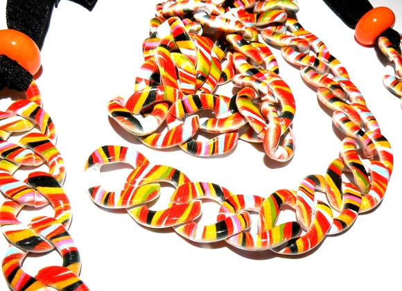 Multicolour acrylic chain, jewellery making