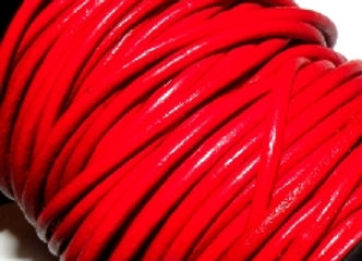 Red Indian Round Leather 2mm