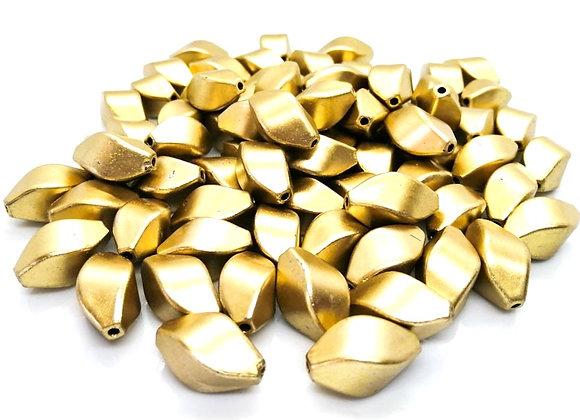 Acrylic Golden Twist Bead 23mm