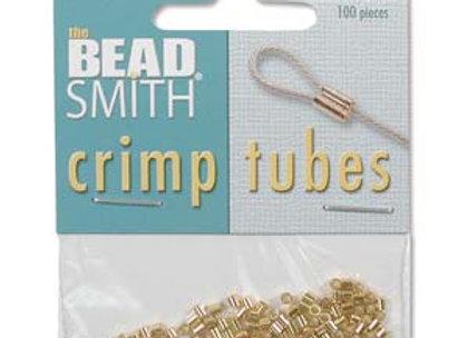 Beadsmith Gold Plated Crimp Tubes - 100pcs