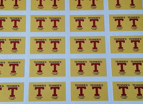 Fun Novelty Craft Stickers - Tenner's Lager - Pack of 50
