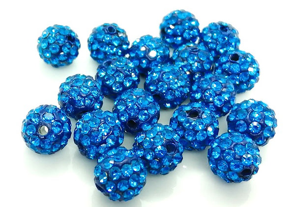 8mm Shamballa Beads Grade A Crystal