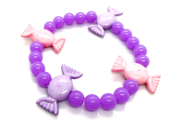 Elastic Bracelet Kit - Candy Sweet Purple/Pink