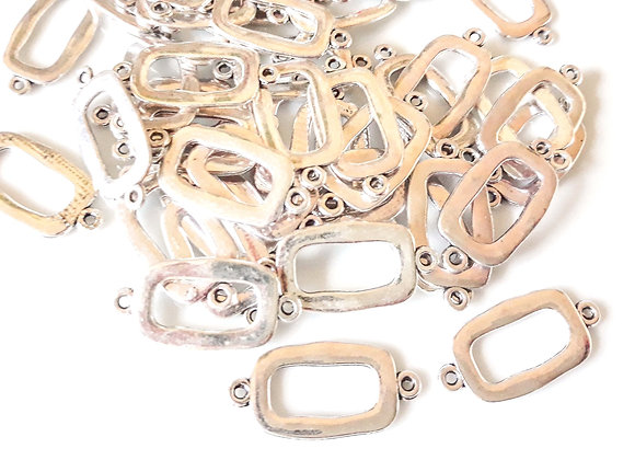 Tibetan Style Flat Oval Link Pack of 10