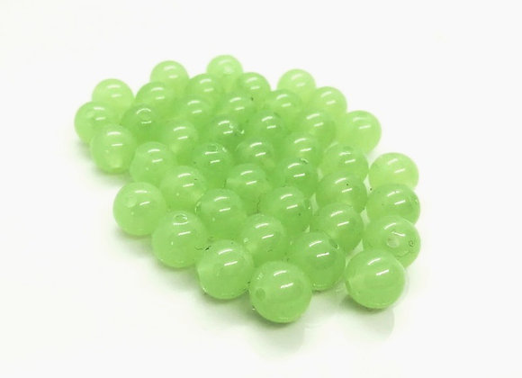 Pale Green Round Bead - 10mm - Pack of 24