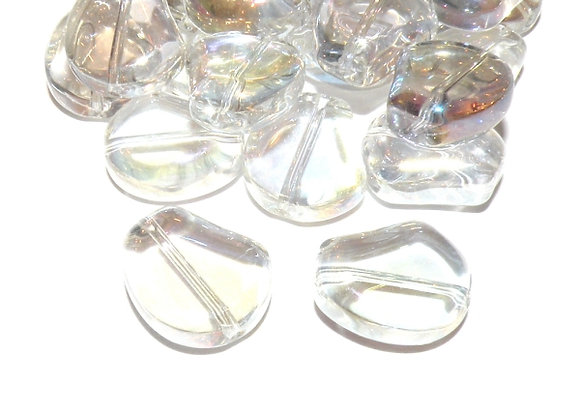 Glass AB Rainbow Color Aurora Borealis Beads - Clear Pack of 10