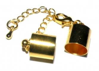 Gold Bell Closer 10mm with Clasp & Chain