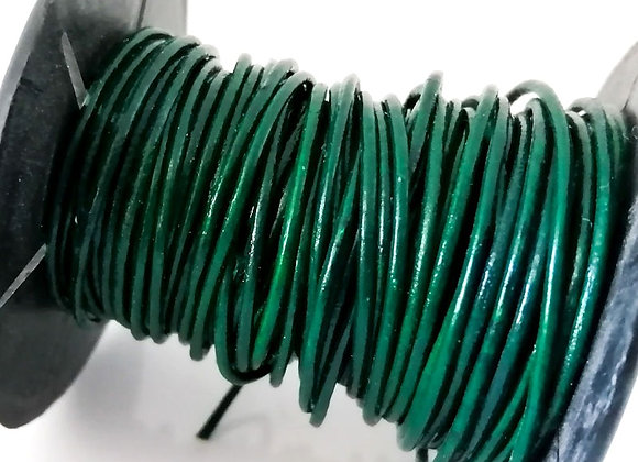 Bright Green Indian Round Leather 1mm