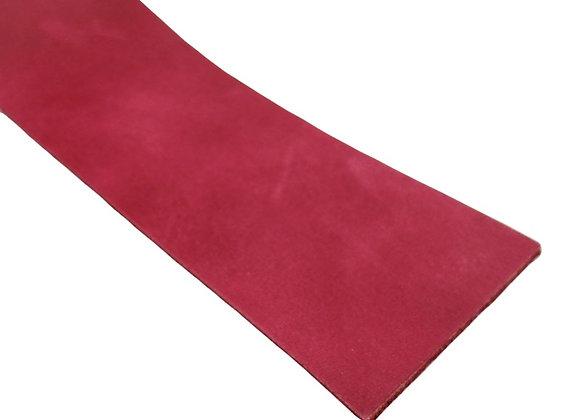 Italian Leather Strip - Rustic Fuschia 2mm