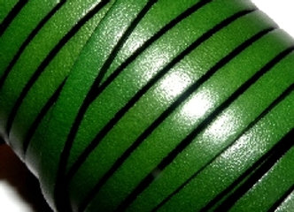 Green Flat Leather 5mm