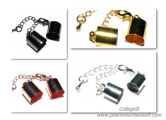 Bell Closer 10mm Hole with Clasp & Chain - Choice of Colours
