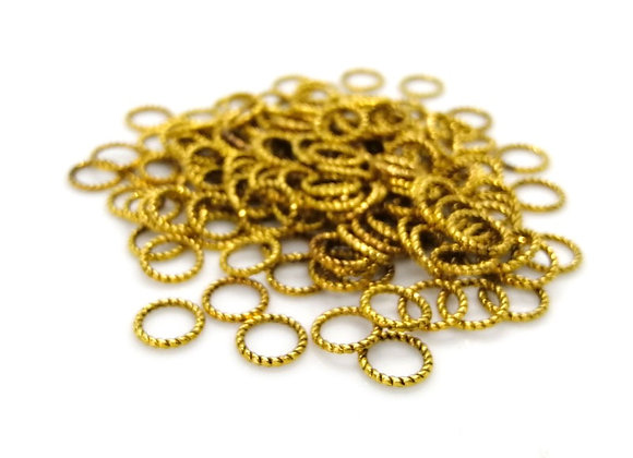 20g Gold Braided Closed Jump Ring - 8mm