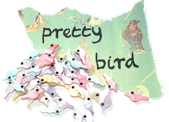 Shell Bird Bead Pack of 10