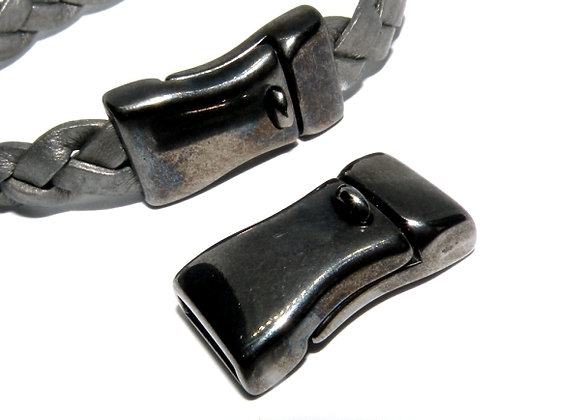 Gunmetal Magnetic Clasp - 10mm Hole