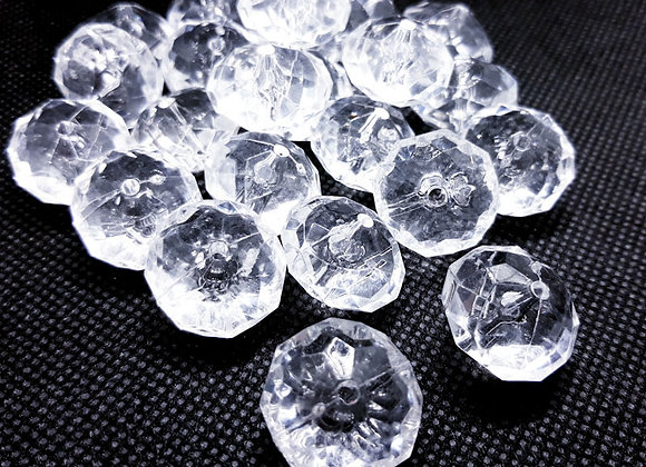 20mm Large Acrylic Crystal Faceted Suncatcher Bead