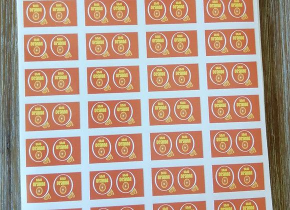 Fun Novelty Craft Stickers - Orange Soda - Pack of 50