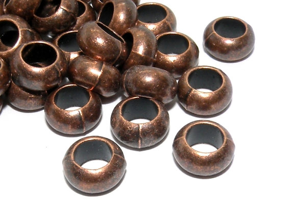Tibetan Style Red Copper Large Hole Bead