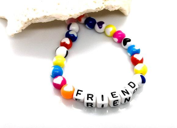Elastic Bracelet Kit - Colourful Hearts 'Friend'