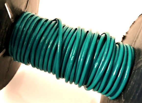 Dark Turquoise Indian Round Leather 1mm