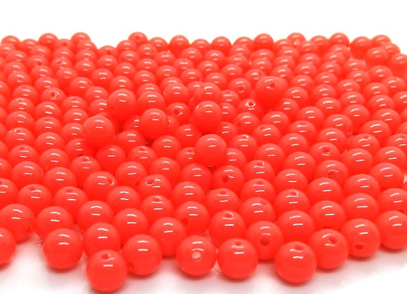 Fluorescent Acrylic Beads 8mm Coral - Pack of 100