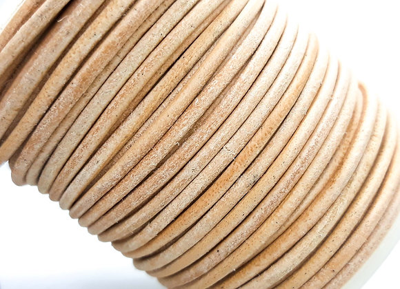 Natural Indian Round Leather 2mm