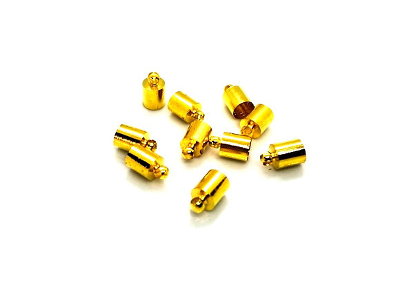 Gold Cord End 5.5mm Hole - Pack of 2