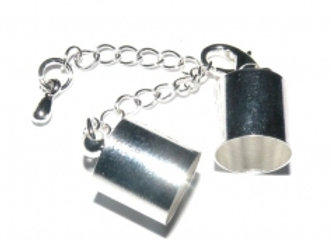 Silver Bell Closer 10mm Hole with Clasp & Chain