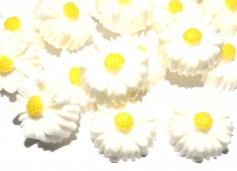Resin Daisy Beads Pack of 10