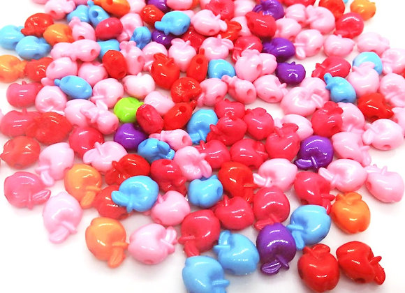 Mixed Fruity Apple Beads Pack of 50