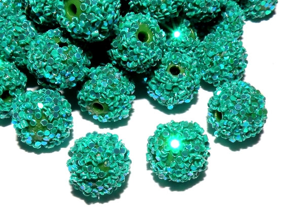 Teal Snowflake Bead Small Pack of 10