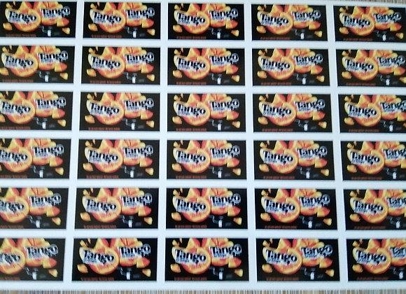 Fun Novelty Craft Stickers - Tango Orange - Pack of 50