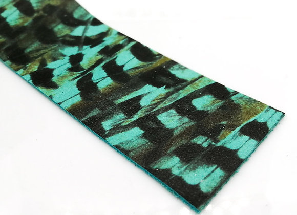 Leather Strip - Green Tiger 1.4mm